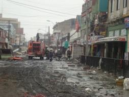 El ex B-5 (R-S170) en Av. Colón en Talcahuano, destrúida tras el Terremoto y Tsunami del 27F