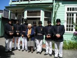 Una de las tantas visitas donde la Sra. Nora Hoffmann de Setz